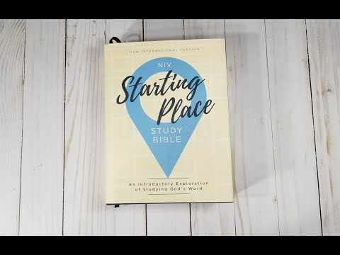 NIV Starting Place Study Bible