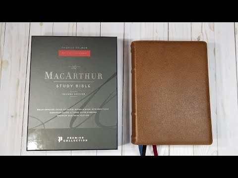 NKJV MacArthur Study Bible Premier Collection