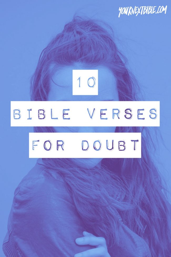 bible verses for doubt