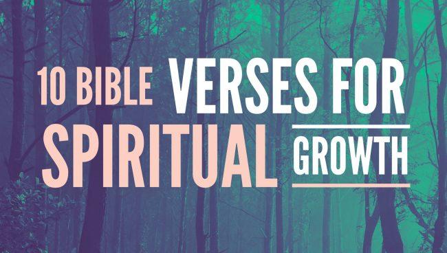 spiritual growth bible verses